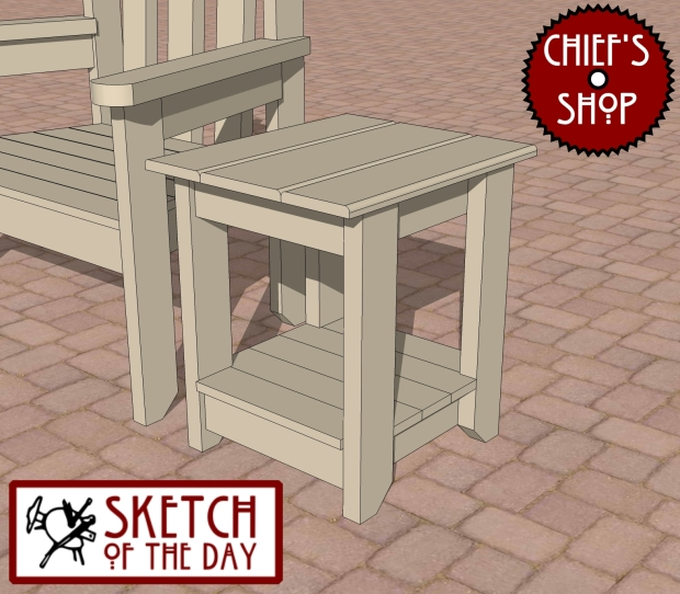 outdoor wood side table plans